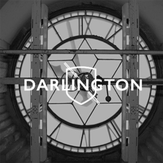 Image of Clock Face with Ingenious Darlington Logo